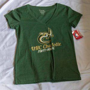 UNC Charlotte 49ers V-Neck Green Tee